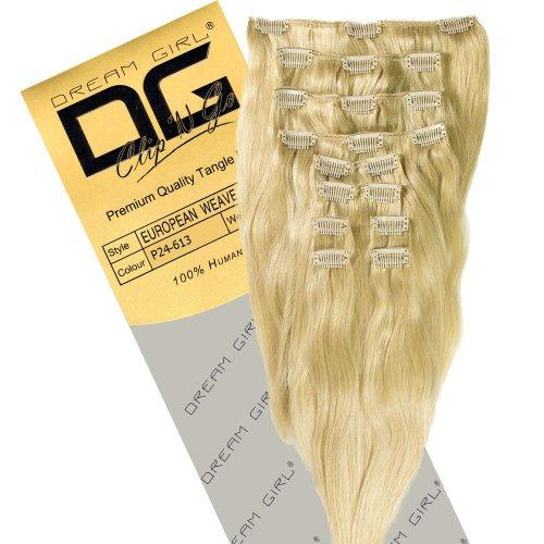 Dream Girl Extensions de cheveux à clipser Couleur 24/613 35 cm