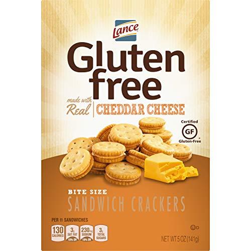 Lance Gluten Free Sandwich Crackers, Cheddar Cheese Bite Sized, 5 Oz Box