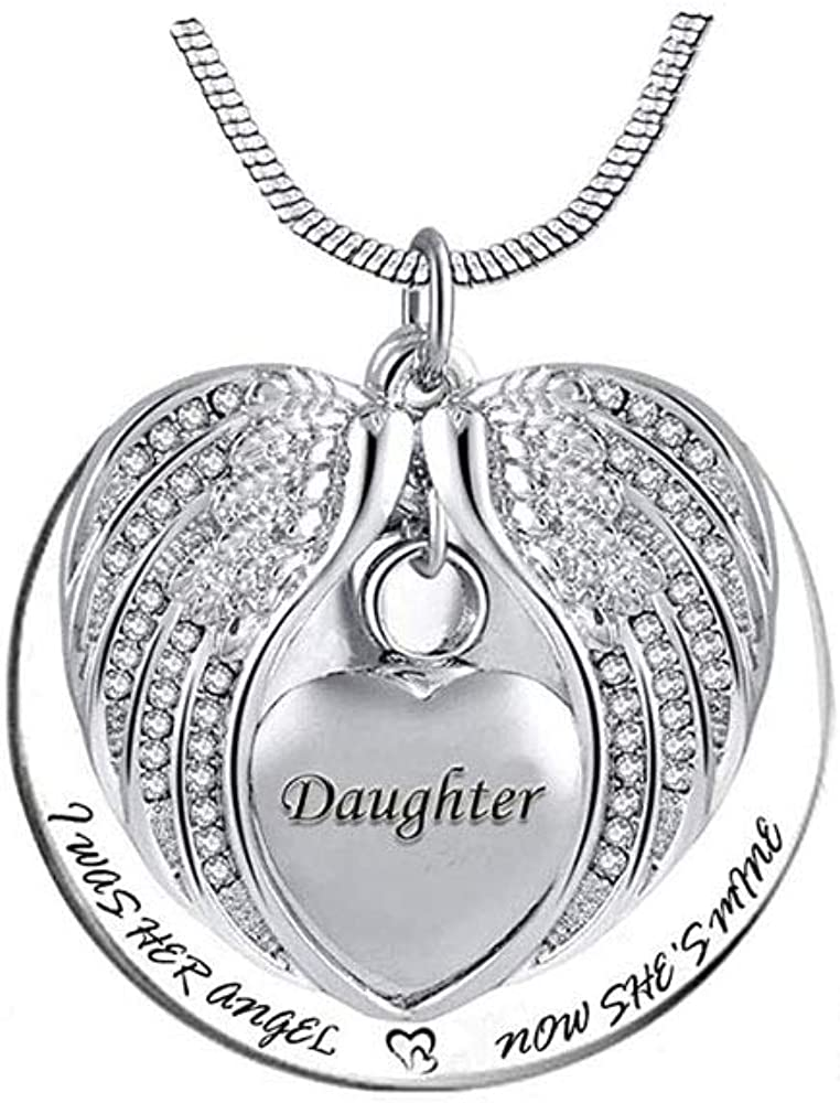 TGLS Heart Angel Wing Cremation Urn Human Necklaces Dallas San Antonio Mall Mall Ashes Da for