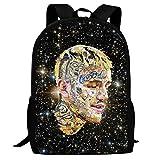ZXL LZX School Book Bag Unisex Youth Backpack Shoulder 3D li-l peep College Student Travel Laptop Backpack Black