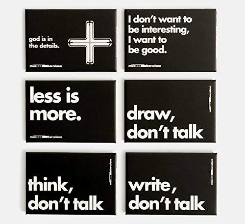 Mies Pack de 6 imanes Van Der Rohe - Producto Oficial de...