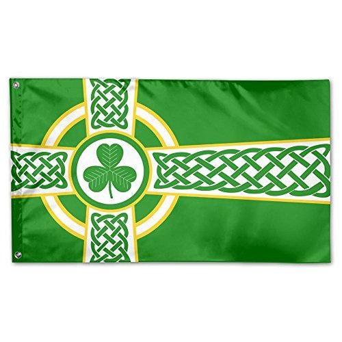 MoningV Irish Celtic Cross Flag Decorative Flag House Flag Yard Banner Garden&Anniversary Home Outdoor 3' X 5'