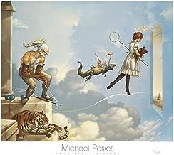 Desert Dream Michael Parkes Fantasy Mystical Animals Print Poster 31.5x27.5