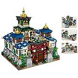 FADF Street View Building, 2770 piezas modulares Kit de casa de arquitectura estilo chino plegable Jingwu Set de construcción compatible con Lego