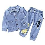 Moneycom❤ Conjunto de camiseta vaquero y pantalón vaqueros para niños y niñas azul claro 3-4 Años...