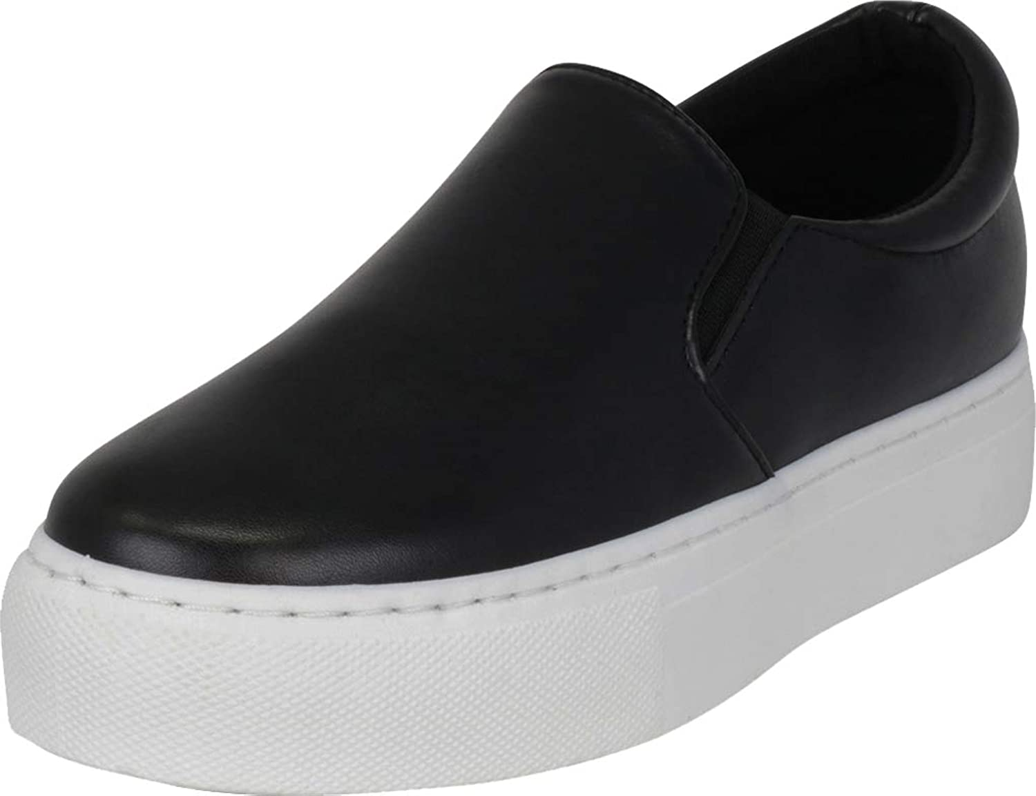 Cambridge Select Women's Slip-On Platform Flatform Fashion Sneaker