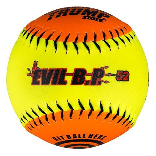 "1 Dozen Evil Bp 12"" Softballs - 52cor/.300 Compression AK Evil BP52 12 Balls"