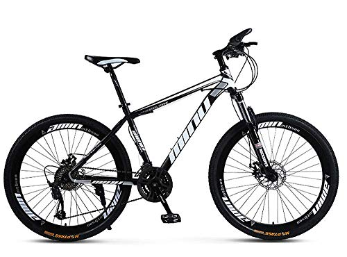 KAUTO Adult Mountain Bike, 26 inch 21-Speed Bicycle Full Suspension MTB ​​Gears Dual Disc Brakes Mountain Bicycle Mini Bike Small Portable for Outdoor Sport Road Bicycle for Men Ladies Womens D 21