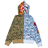 [Lサイズ] エイプ A BATHING APE 18AW BAPE XXV CITIES CAMO TIGER SHARK HALF FULL ZIP HOODIE GREEN 【新品】 2018AW 212001027255