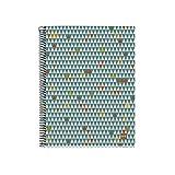 Miquelrius - Cuaderno Ecotriangles A4, 120 hojas (franjas de 4 colores), papel reciclado, cuadrícula 5 mm, Tapa de cartón reciclado