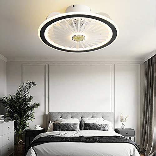 YIWEN Ventilador De Techo Moderno con Iluminación Ventilador Silencioso Luz De Techo LED Regulable con Control Remoto Lámpara De Techo para Dormitorio,Negro