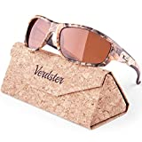 Verdster Camo Polarized Men's Sunglasses - UV Protection - Brown Camouflage Pattern Sun Glasses with Amber Lenses - Great for Fishing