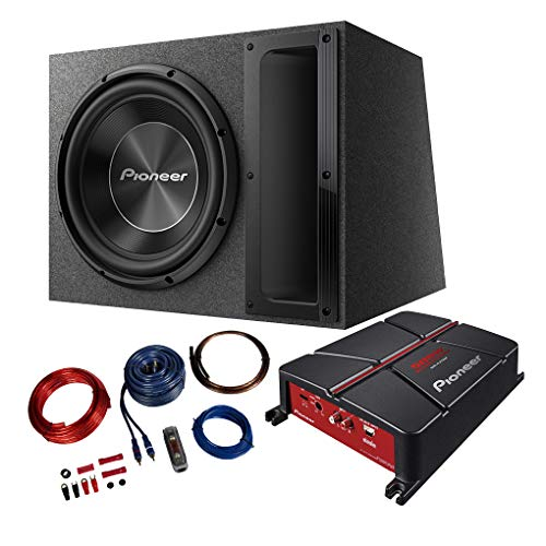 PIONEER Basspaket 2-Kanal Endstufe/Verstärker+30cm Subwoofer+Kabel-Set - 1500W / GM-A3702 - TS-A300B + REN10KIT