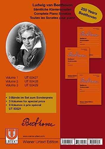 Sämtliche Klaviersonaten: 3 Bände im Set zum Sonderpreis. Klavier. (Wiener Urtext Edition + Faksimile)