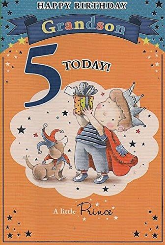 Gelukkige Verjaardag kleinzoon 5 Vandaag! - Verjaardagskaart