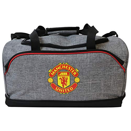 FOCO Football Club Heather Grey Duffle Bag (Manchester United)