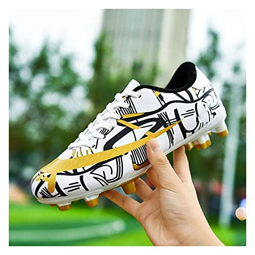YXIAOL Botas Fútbol Niños Entrenadores Atletismo Entrenamiento Zapatos Chicas Zapatos Adolescente Zapatos Fútbol Al Aire Libre Zapatillas Deporte para Unisex VIIPOO,White-41