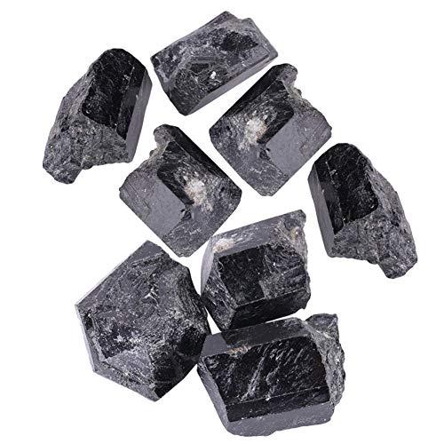 Sheens Turmalina Negra, Piezas de Cuarzo Natural Piedras de Forma Irregular Piedra de curación Mineral para Colgante Pulsera de Agua purificadora Estatuilla Decoración de pecera