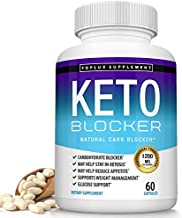 Keto Carb Blocker Pills White Kidney Bean Extract - 1200 mg Natural Ketosis for Weight Management, Starch Intercept, Manage Cravings, Support Keto Diet, for Men Women, 60 Capsules, Lux Supplement