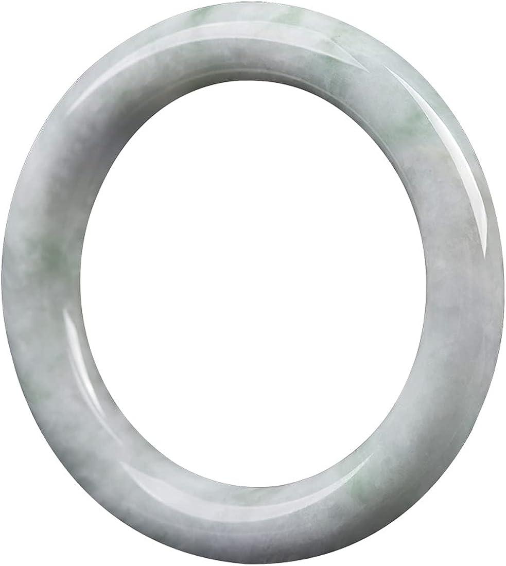 Jadeite Jade Round Bangle (Grade A) 54mm