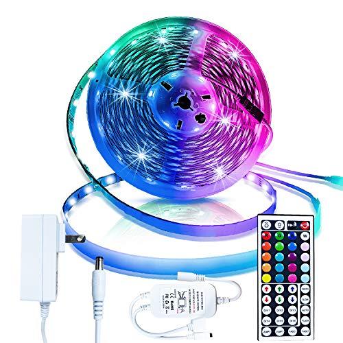Inscrok Tira 12V Luces 5M 150 Leds Non Impermeab 5050 SMD RGB Tiras de LED Kit Completo
