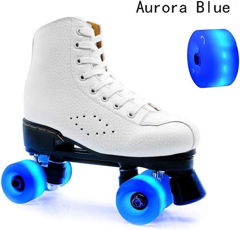 Luminous Light Up 32mm x 58mm ABEC-9 608 Bearings 82A 4 Pack Wheels for Quad Skating and Skateboarding Yeipower Roller Skate Wheels Quad-Light