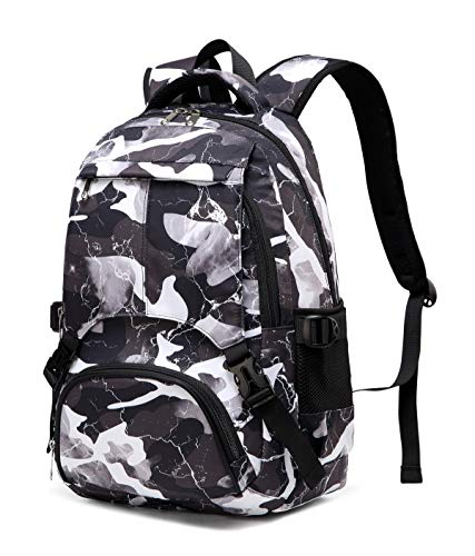 BLUEFAIRY Kids Daypack for Teens Boys Girls Backpacks for Middle High School Bag (Camo Grey)