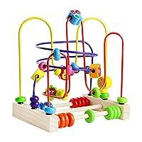 Fatto con materiali di qualità. Giochi in legno molto robusto--Superficie liscia e bordo questo labirinto legno bambini. Sicuro per i bambini. Questo labirinto gioco è a forma di roller coaster--Ottimo per lo sviluppo di mentale precoce, sviluppare a...