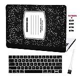 Laptop Plastic Hard Case MacBook Pro 13 Inch Matte Rubberized Hard Shell Sleeve Cover New MacBook Pro 13 Inch Case A2159 A1989 A1706 A1708 with Keyboard Cover and Dust Brush (Notebook Pattern-Black)