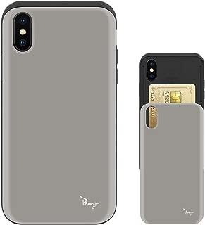 iPhone Xs Max ケース iPhoneXs Max ケース TPU バンパー Bumper 耐衝撃 カード入れ マット加工 ワイヤレス充電対応 スマホケース 擦り傷防止 保護フィルム Breeze 3DP 正規品 [IXSMJP206BN]