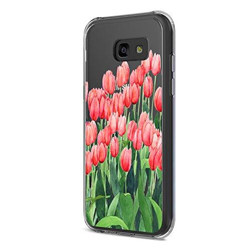 Neivi Compatible with Hülle Samsung Galaxy A3 2017 Schutzhülle Durchsichtig Silikon Silikonhülle Transparent TPU Bumper Schutz Handytasche Handyhülle Schale Case Cover für A3 (Blume4, Galaxy A3 2017)
