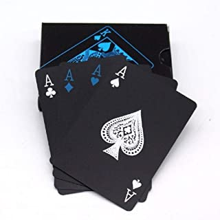 PROTOS INDIA.NET ™ Playing Cards Premium Plastic PVC Black Cards for Playing Games for Adults Kids Poker Playing Deck of C...