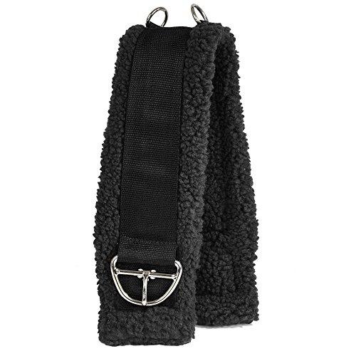 Intrepid International Western Fleece Cinch Girth, Black, 34-Inch