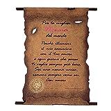 Pergamena con messaggio dedicato alla nonna