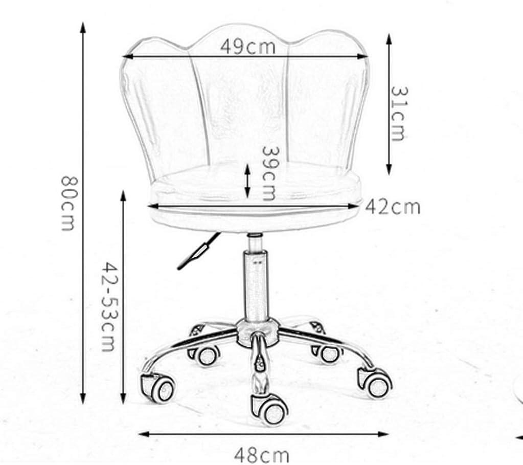 LU- Chaise pivotante for ordinateur de type pétale - levage, chaise de bureau européenne, tabouret de dressing, chaise pivotante for étude moderne (Color : Gray) Black