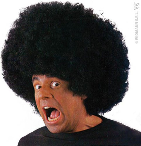 Party Pro 873058 Pruik Big Afro Zwart 200Grs, Mulit Kleur