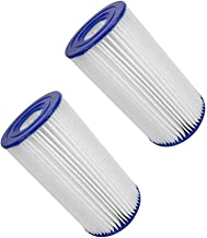 Swimming Pool Filter for Intex Type A/C,Easy Set Pool Filter Cartridges,New Spa Filter Cartridges,Pool Filter Pumps Universal Replacements for Pool Cleaning (2 PCS)
