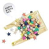 kukkia (クキア) kiko + tanabata [ バースデー風船付き / 100ピース入り ] ドミノ 木製 星形 おもちゃ 積み木