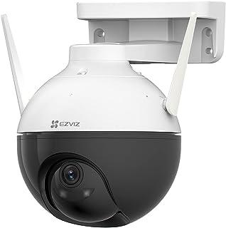 EZVIZ Telecamera Wi-Fi Esterno 1080p, Telecamera Motorizzata per Esterni con Copertura a 360 °, Visione Notturna Fino a 30m, Rilevamento di persone, Impermeabile, Funziona con Alexa Modello C8C Lite