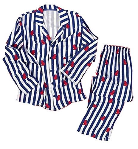 Silver Basic BTS Bangtan Boys Musik-Fanbekleidung JUNG JOOK Jimin V Harajuku Stil BT21 Pyjama Set Nachtwäsche (L, Tata-3)