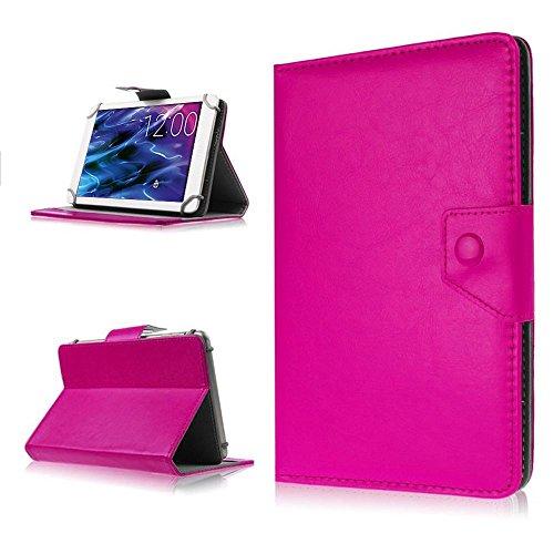 NAUC Tasche für Medion Lifetab P8502 Hülle Tablet Schutzhülle Case Cover Stand, Farben:Pink