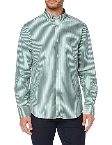 GANT The Broadcloth Stripe Reg BD Camisa para Hombre
