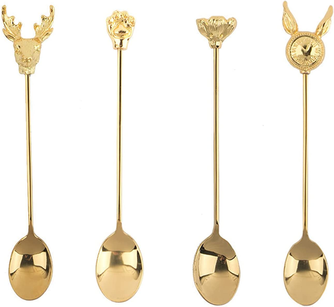Cooking spoon Stainless Steel Small Spoon Set - Gold Max 63% Finally resale start OFF Creati 4 of