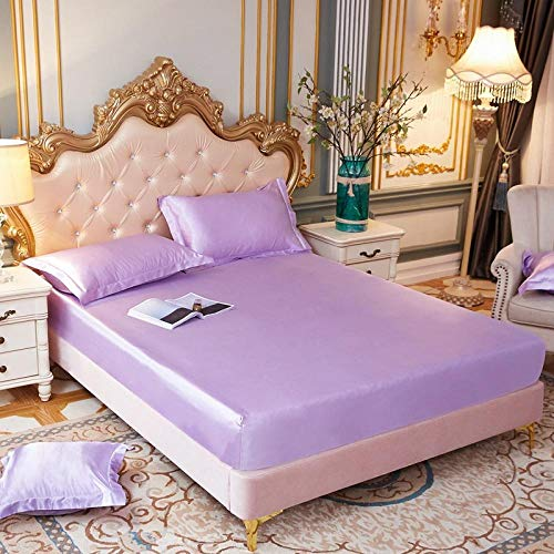 JKCTOPHOME Sábana bajeras Ajustable tamaños y Colores,Protector de colchón de sábana de Color sólido Simple-I_150 * 200 * 25cm,Banda elástica Sábana Ajustable