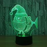 LIkaxyd Ilusión 3D Luz Nocturna Lámpara,7 Colores Cambio De Botón Táctil Y Cable Usb, Regalo De Navidad Para Niño[Clase De Eficiencia Energética A +++]Set De Regalo Creativo