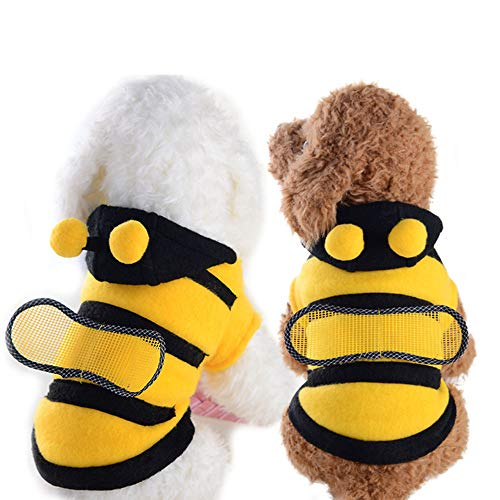 MTHDD Cute Bee Pet Dog Coat Apperal Dog Bee Costume Pet Party Clothes Pet Cute Coat Puppy Halloween Bumblebee Apperal