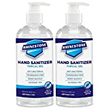 RHINESTONE Gel Hand Sanitizer | Advanced No-Rinse Gel | 75% Ethyl Alcohol | Made in USA | 2-Pack of 16.9 Fl Oz / 500ml Bottles with Pumps