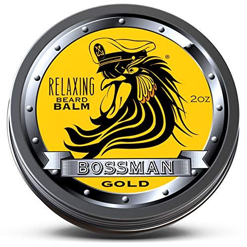 Bossman Relaxing Beard Balm – Nourish - Thicken - Strengthen Your Beard (Gold)