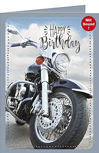 Geburtstagskarte mit Musik - Musikkarte Motorrad, Born to be Wild