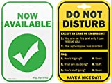 Do Not Disturb Privacy Double Sided Sign for the Office...